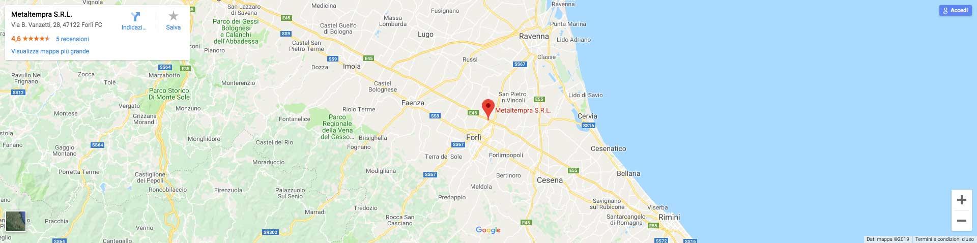 Mappa indirizzo Metaltempra